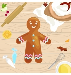 Process of preparing christmas treats and sweets vector