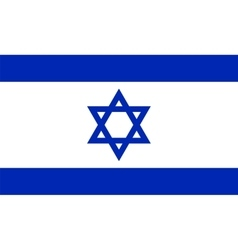 Official israel flag vector
