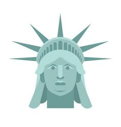 Head of statue of liberty face sculpture america vector