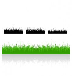 set realistic grass vector image