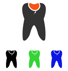 tooth caries flat icon vector image