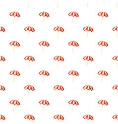 striped beach umbrella pattern vector image