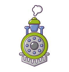 Locomotive icon cartoon style vector