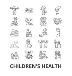 children s health kids eating healthy doctor vector image