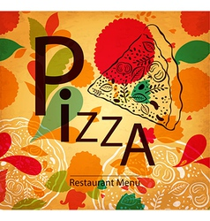 Pizza retail design vector