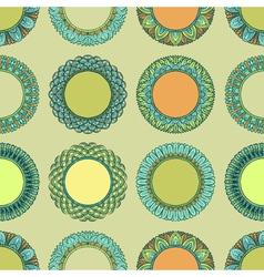 Seamless vintage hand drawn pattern vector image
