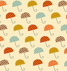 pattern with umbrellas vector image