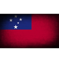 Flag of samoa with old texture vector