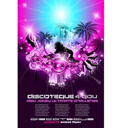discoteque flyer vector image