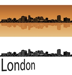 London skyline in orange vector