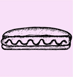 Hot dog mustard vector