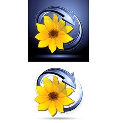 Yellow flower buttons vector