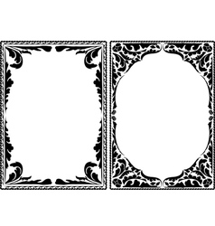 Silhouette decorative frames vector