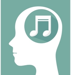 musical profile isolated icon design vector image
