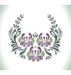 Hand drawn vintage floral ornament vector