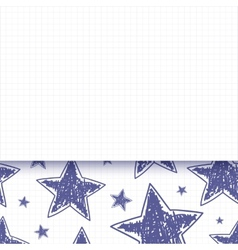Abstract background with hand drawn stars vector