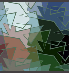 Abstract colorful background of broken vector