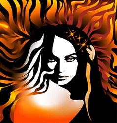 abstract girl vector image vector image