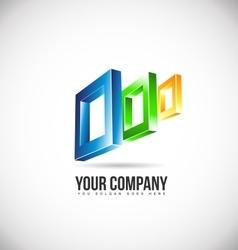 Abstract square logo icon design vector