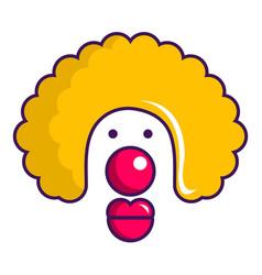 clown face icon cartoon style vector image