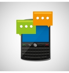 concept email cellphone chat bubble icon vector image