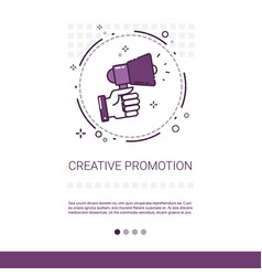 creative promotion sale shopping banner with copy vector image