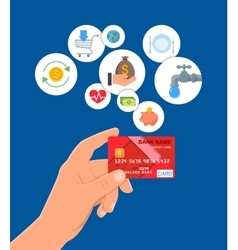 Credit card payments concept vector