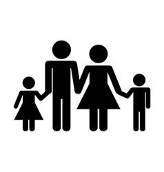 family silhouette vector image vector image
