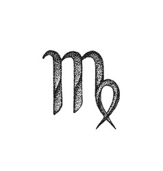 hand drawn virgo zodiac sign vector image