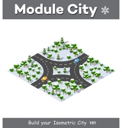Isometric view projection vector