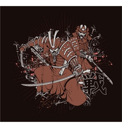 japanese t-shirt design vector image vector image