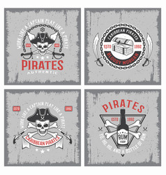 Lifestyle of pirates concepts vector