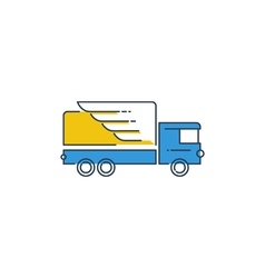 Logistics icon fast truck delivery logo concept vector