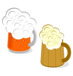 Mug of beer vector image vector image