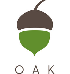 oak tree acorn icon vector image vector image