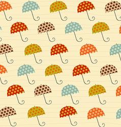 pattern with umbrellas vector image vector image