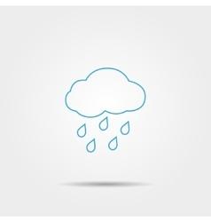 Rain line icon vector image