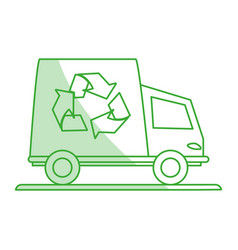 Recycle cargo truck vector
