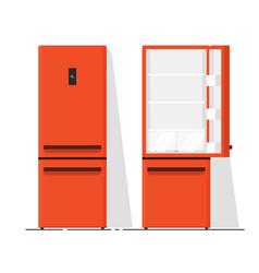 refrigerator empty flat vector image vector image