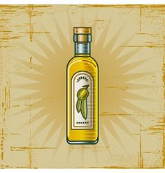 Retro Olive Oil Bottle vector image vector image