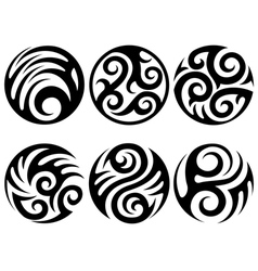 round tattoos vector image