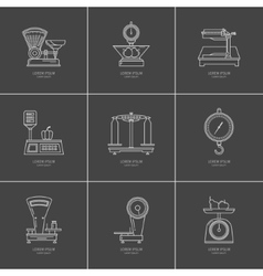 Set of kitchen scales vector