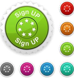 Sign up award vector