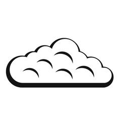 Sky cloud icon simple style vector