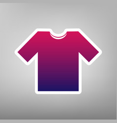 T-shirt sign purple gradient vector