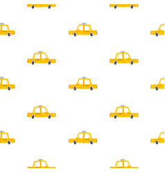 taxi cars pattern vector image vector image