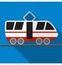 Tram flat icon vector image