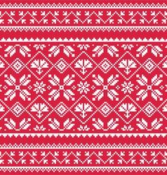 Ukrainian Slavic folk art white embroidery vector image vector image