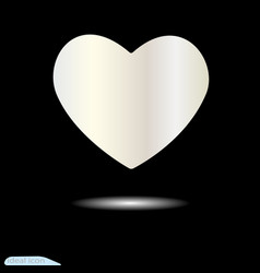 White heart for valentine s day symbol love vector