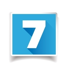 Number seven label or number icon vector